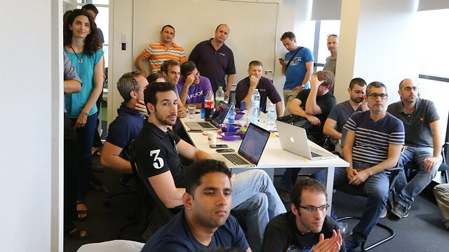 Participants in Yahoo's program at the Tel Aviv development center.