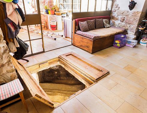 סליחה, יש לכם פיסת היסטוריה בסלון (צילום: אסף פרץ, באדיבות רשות העתיקות)