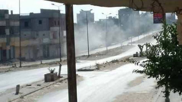 Smoke billows after attack in Sinai