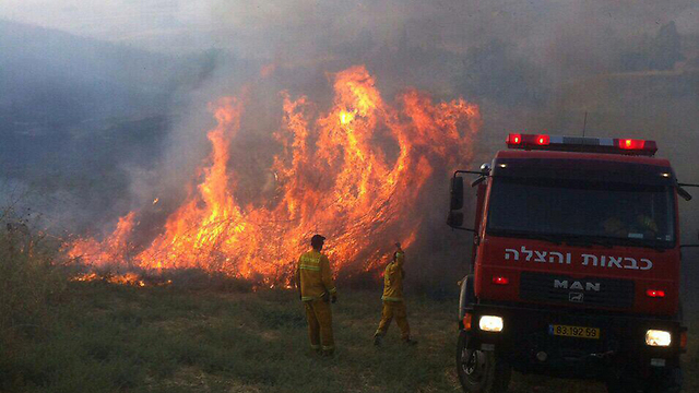 Firefighters gain control of huge fire near Sea of Galilee