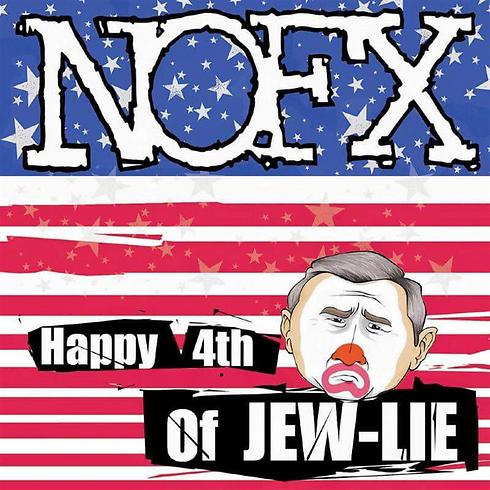 """Happy 4th of JEW-LIE"". הפוסט המקורי שגרר תגובות אנטישמיות ()"