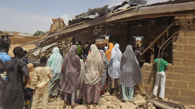 Aftermath of bombing by Boko Haram at Nigerian church (Photo: AP)
