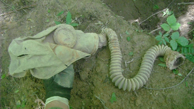 Gas mask found near the body (Photo courtesy of Israel Bristman)