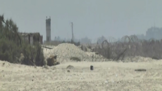 האזור שבו חצה מנגיסטו את הגבול לעזה (צילום: רועי עידן)