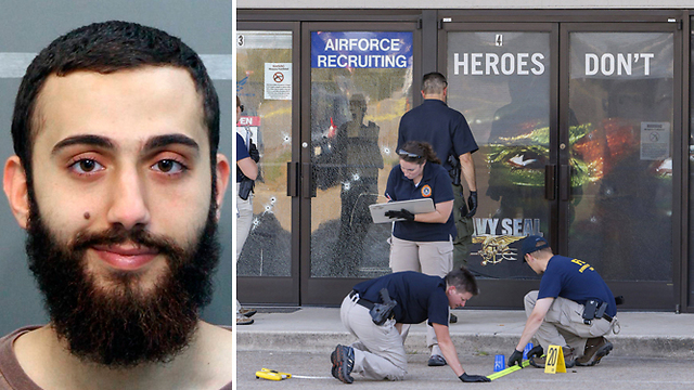 Mohammod Youssuf Abdulazeez, left, and the scene of the attack (Photo: AP, EPA)