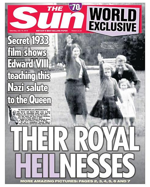 Saturday's cover of 'The Sun'.