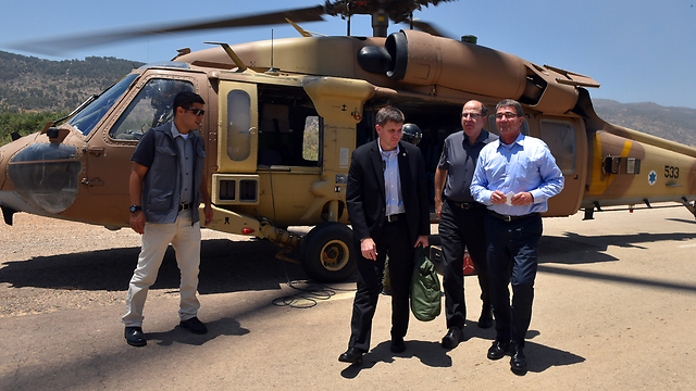 Defense Minister Ya'alon and Ash Carter (Photo: Ariel Harmoni)