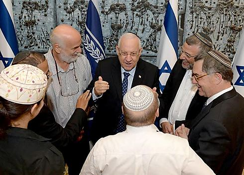 Religious leaders with Reuven Rivlin (C) (Photo: Mark Neiman/GPO)
