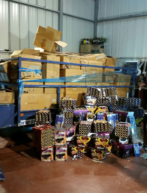 Police raids store selling fireworks to Palestinian rioters