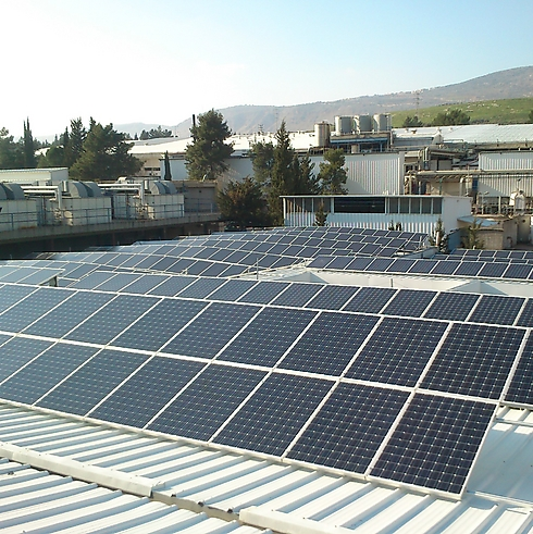פאנלים סולארים בכרמיאל, שהעירייה דרשה עליהם ארנונה גבוהה (באדיבות חברת ירוק אנרגיה מהטבע)
