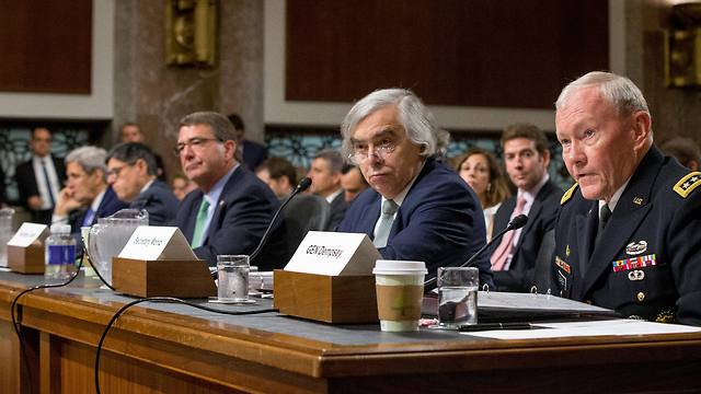 Ashton Carter Martin Dempsy and Sec. Moniz before Congress (Photo:AP)