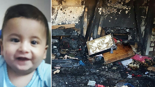 Ali Dawabsheh, the baby killed in the fire, and the damaged home
