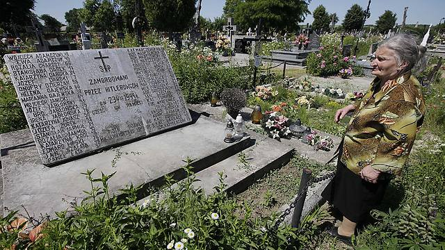 A mass grave in Poland where karkoc and the men he led allegedly killed women and children. (Photo: AP)