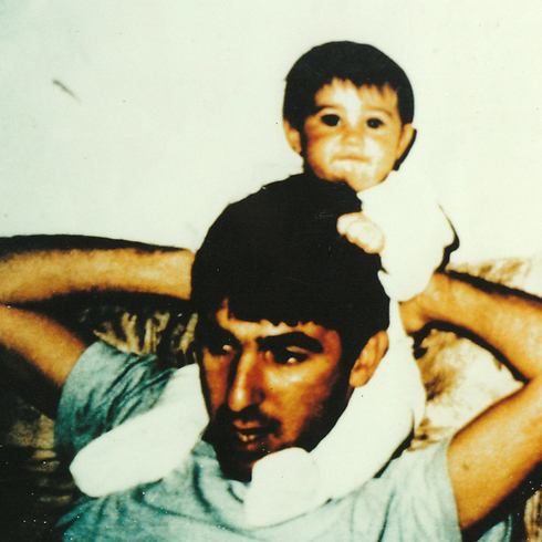 Ron Arad with his daughter Yuval
