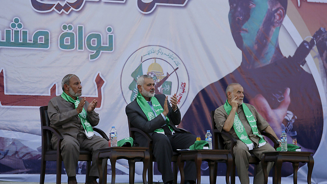 Hamas leaders in Gaza. 'The Israeli interest is a stable Hamas government, as any other alternative won't be as good for us' (Photo: Reuters)