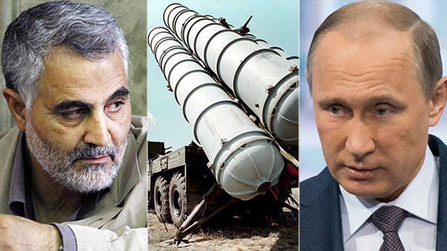 Soleimani (left) and Putin (right) have both put boots on the ground in Syria. (Photo: AP, Fars, EPA)
