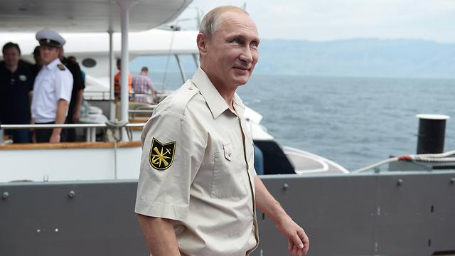 Путин в Крыму. Фото: МТС