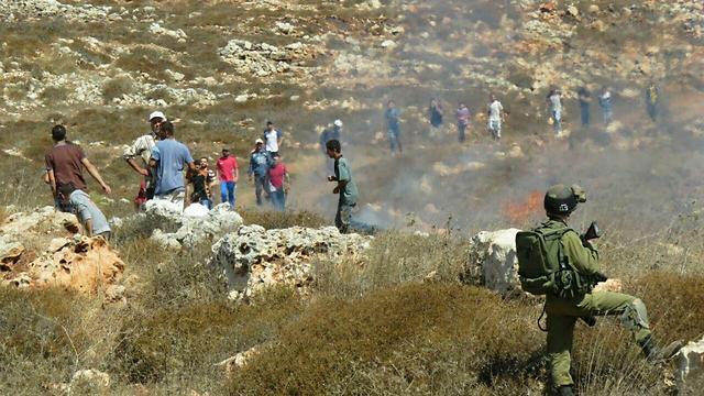 Clashes between settlers and Palestinians (PhotoL: Tazpit)