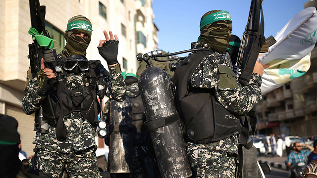 A Hamas military parade in Gaza. (Photo: AFP)