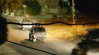 Soldiers in Jenin Monday night