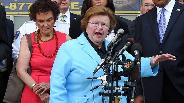 Sen. Barbara Mikulski speaks during a news conference to announce the start of the Baltimore Federal Homicide Task Force (Photo: AP)