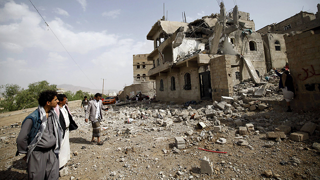 A demolished building in Yemen following an attack (Photo: Reuters)