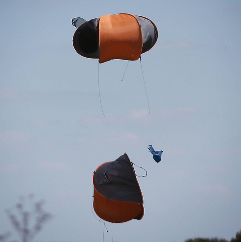 This was someone's home, even if just temporarily. A tent blowing in the wind. (Photo: Getty Images)