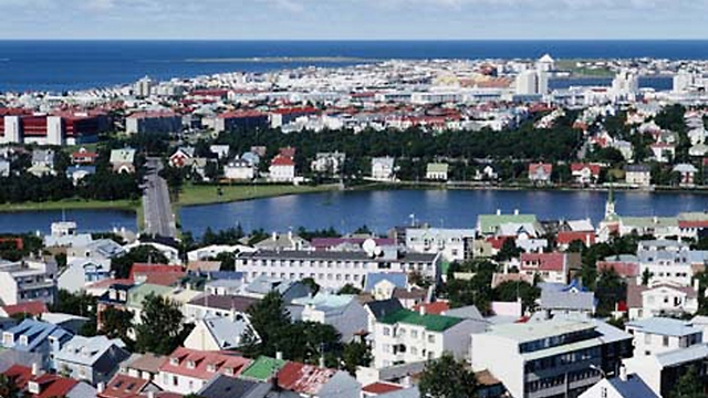 The city of Reykjavik. (Photo: Getty Image Bank Israel)