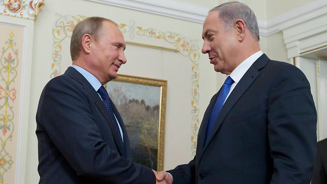 Putin and Netanyahu on Monday (Photo: AP)