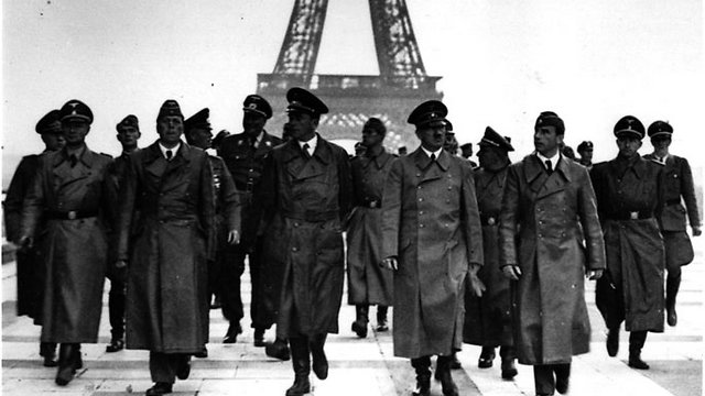 Hitler and high-ranking Nazis in Paris following the successful blitzkrieg attack, 1940 (Photo: Getty Images)