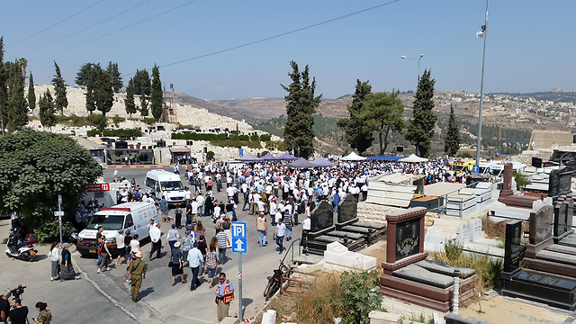 Thousands attended the funeral. (Photo: Eli Mendelbaum)