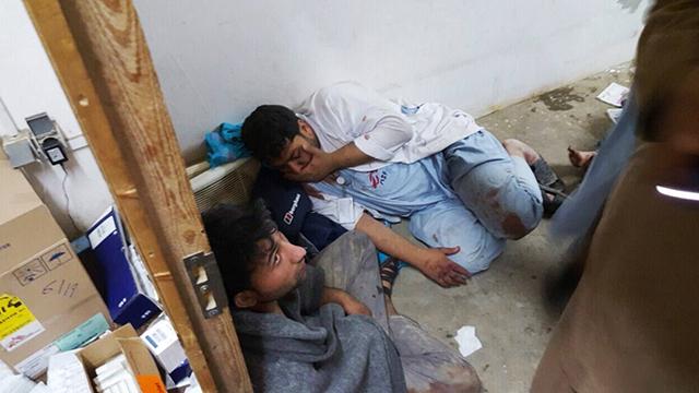 Aftermath of Kunduz strike (Photo: AFP)
