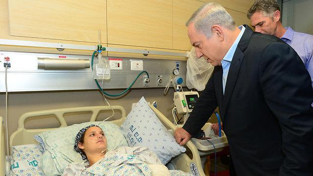 Prime Minister Netanyahu visits Adele Bennett (Photo: Kobi Gideon, GPO)