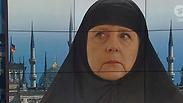 סאטירה או הסתה? סערה עקב 'מרקל המוסלמית'