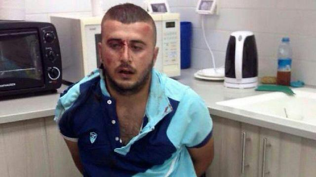 The terrorist after he attempted to murder a Jew in Petah Tikva