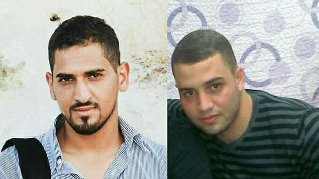 (Left) Baha Alian (22) killed (Right) Bilal Ranem (23) seriously wounded