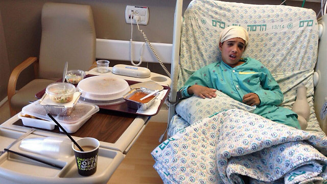 Ahmed Mansra in the hospital