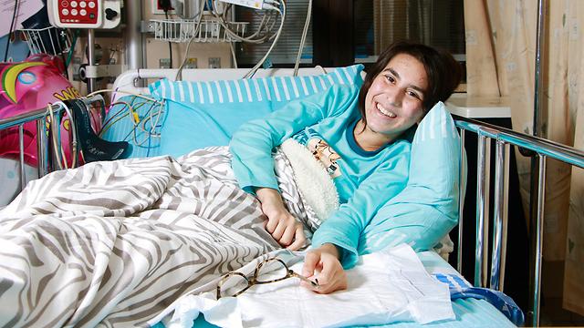 Sergeant Orel Azuri in the hospital. (Photo: Dana Kopel)