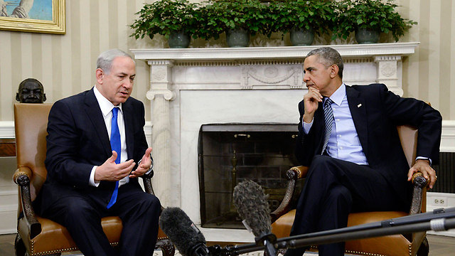 Obama, right, does not view Netanyahu, left, as a friendly leader (Photo: EPA)