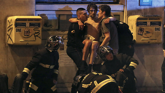 One of the wounded in the Paris attack (Photo: Reuters)