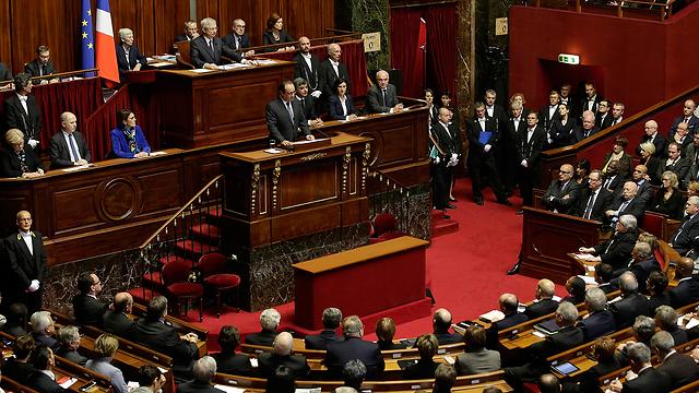 Francois Hollande addresses both houses of parliament (Photo: AP)