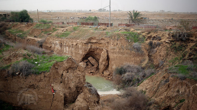 An area where tunnels had been flooded