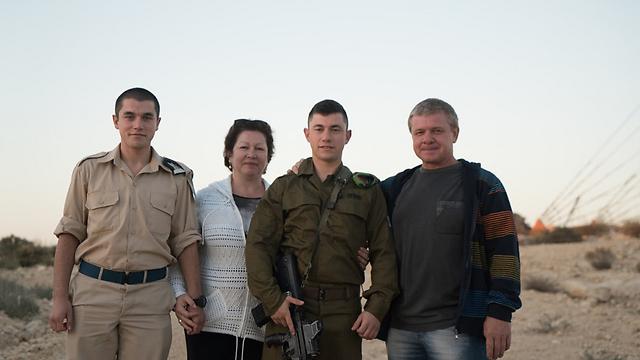 """ההורים הגיעו מאוקראינה (צילום: דובר צה""""ל)"""