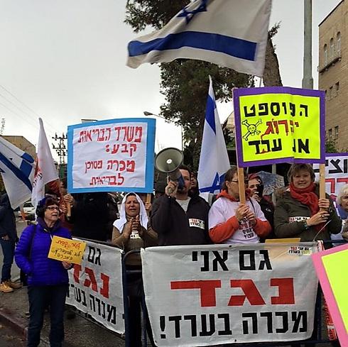 הפגנה נגד הכריה - ארכיון (צילום: טובה בן צבי מרק)