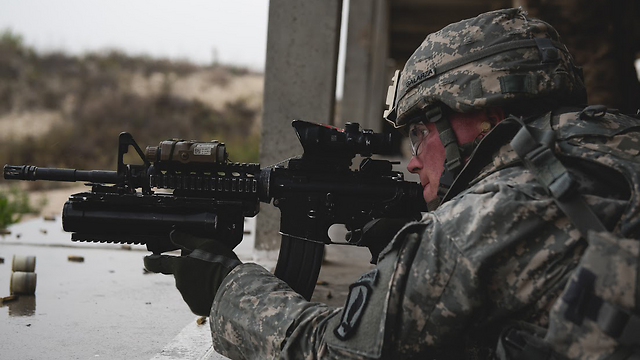 The US troops (Photo: IDF Spokesperson)