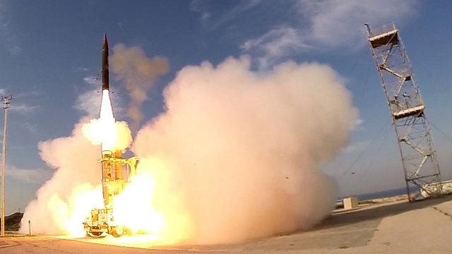 רגע השיגור (צילום: אגף דוברות והסברה, משרד הביטחון)