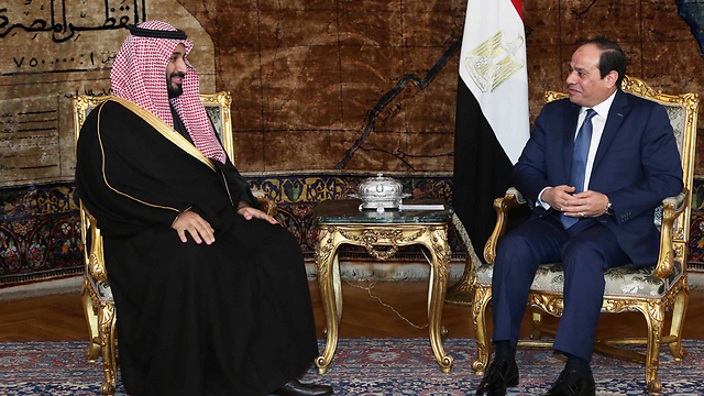 Egyptian President Abdel Fattah al-Sisi and Crown Prince of Saudi Arabia Muhammad bin Nayef (Photo: EPA)