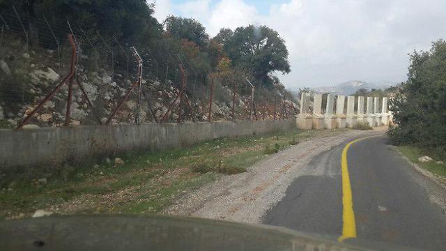 Concrete blocks set up at the Lebanese border (Photo: Yoav Zitun)