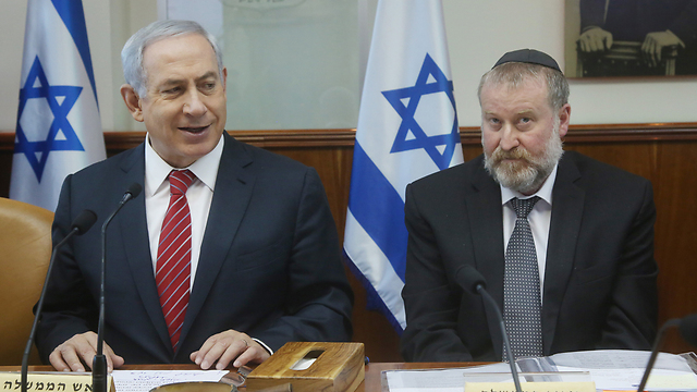 Mandelblit with PM Netanyahu (Photo: Mark Israel Salem)