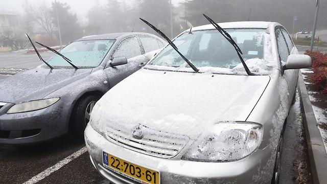 השלג הגיע למרום גולן (צילום: אביהו שפירא)